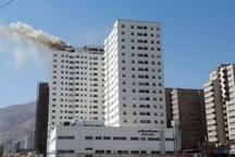 130 نفر ازآتش سوزی برج 16 طبقه تهران نجات یافتند