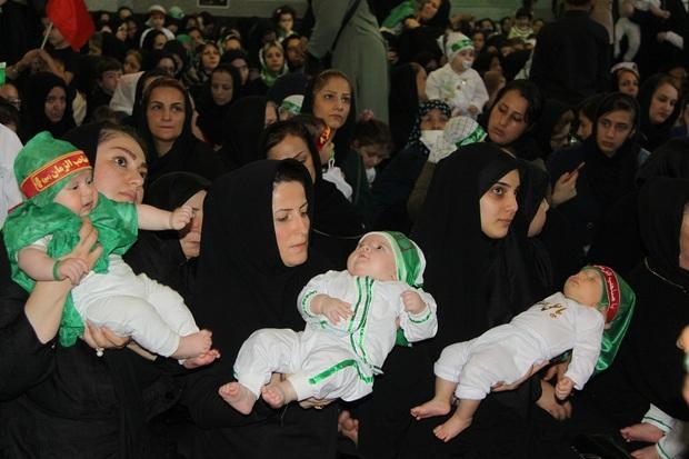 همایش مظلومیت طفل شیرخوار کربلا در نقاط مختلف گیلان برگزارشد