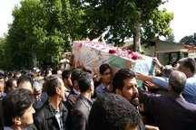 پیکر مطهر شهید مرزبانی در رامیان تشییع شد