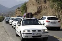 ترافیک جاده های منتهی به مازندران پرحجم و نیمه سنگین است