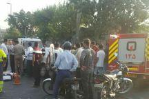 تصادف سمند با اتوبوس در تهران یک کشته برجا گذاشت