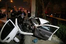 بروز تصادف در بزرگراه حکیم تهران منجر به کشته شدن 2 نفر شد