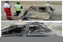 چهار مجروح در حادثه واژگونی خودرو در جاده قوچان - فاروج
