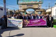 حضور اعضای ستاد هفته کارگر در گلزار شهدا و  تجدید میثاق با آرمان های شهدا