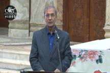 سخنان علی ربیعی قبل از شروع سال تحویل در حرم مطهر امام خمینی (س)