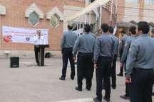 آموزش نیروهای جدید سازمان آتش نشانی اردبیل