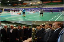 بیست و هشتمین دوره مسابقات بین المللی بدمینتون جام فجر آغاز شد