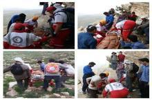 نجات بانوی کوهنورد در ارتفاعات کوه «اقداش» بروجن