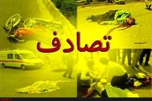 تصادف زنجیرهای با ۶ مصدوم در اتوبان ساوه - همدان