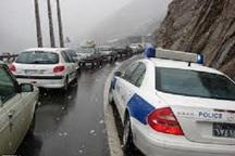 ترافیک آزادراه تهران - کرج - قزوین سنگین و جاده چالوس نیمه سنگین است
