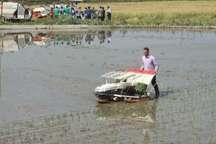 با حضور وزیرجهاد کشاورزی اولین نشاء مکانیزه برنج در مازندران آغاز شد