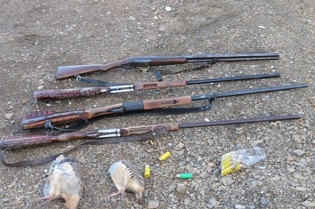 2 شکارچی متخلف در اردبیل دستگیر شدند