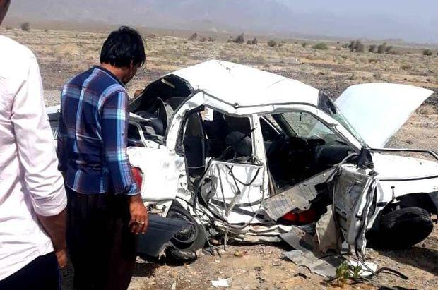 برخورد پراید با خودروی پلیس در قلعه گنج کرمان 2 کشته بر جا گذاشت