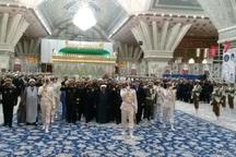 فرماندهان نیروی دریایی با امام راحل تجدید میثاق کردند