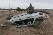 واژگونی خودرو در جاده قلعه شور اصفهان 6 مصدوم برجاگذاشت