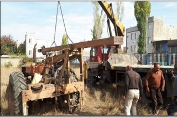 دستگاه حفاری غیرمجاز در مشگین شهر توقیف شد