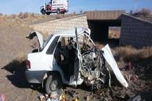 واژگونی خودرو سواری در جاده بیجار - تکاب یک کشته برجا گذاشت