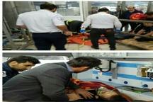 محصور شدن ۴ کارگر در مخزن خالی نگهداری گاز ازت +عکس