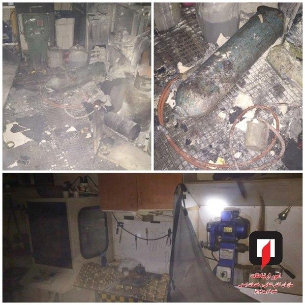 آتش سوزی در یک کارگاه جواهر سازی در تبریز اطفاء شد