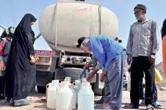 توزیع روزانه ۶۰۰ مترمکعب آب شیرین به عشایر شمال کرمان با تانکر