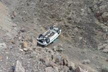 سقوط خودرویی به دره در جاده قهرود چهار مصدوم داشت