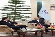 تاکید بر توسعه روابط در دیدار شهردار مشهد و سفیر انگلیس