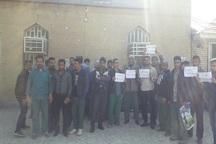 کارکنان فضای سبز شهرداری منطقه 2 اهواز خواستار پرداخت مطالبات خود شدند