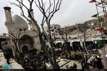 مراسم تشییع و خاکسپاری پیکر مطهر شهید گمنام در حوزه علمیه معیر