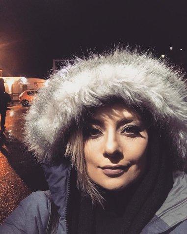 یکتا ناصر در سرمای جاده چالوس + عکس