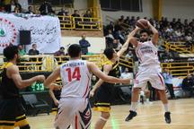 تیم بسکتبال شهرداری گرگان مقابل رعد هوایی دزفول پیروز شد