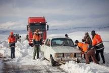 63مسافر گرفتار در برف امدادرسانی شدند