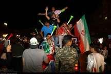 مردم مشهد از بازی ایران برابر پرتغال به وجد آمدند