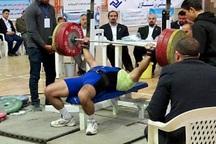 ورزشکار مهابادی نایب قهرمان مسابقات پرس سینه کشور شد
