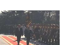استقبال رسمی معاون جهانگیری از نخست وزیر سوریه