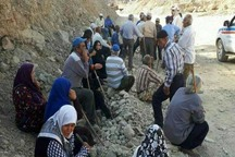 رانش زمین روستاییان دینه کوه را تهدید نمی کند