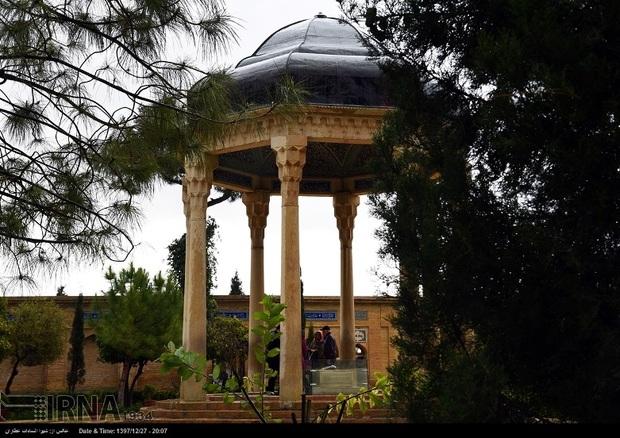 آرامگاه حافظ در صدر مکان های پربازدید میراث فرهنگی فارس است
