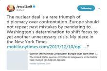ظریف: اروپا نباید اشتباهات گذشتهاش را تکرار کند