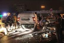 هفت نفر در تصادف دو خودرو در مشهد مصدوم شدند