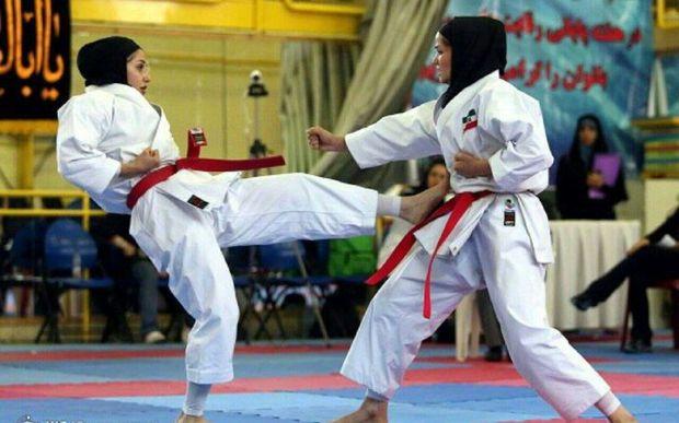 مسابقات بینالمللی کاراته بانوان در یزد آغاز شد
