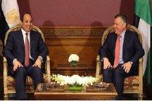 تاکید سیسی و عبدالله دوم بر ادامه مقابله با تروریسم