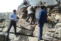 فعالیت معدنی در سنگ نگاره های راونج دلیجان متوقف شد