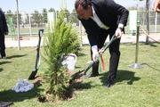 مارک ویلموتس در حال کاشت درخت+ تصاویر و فیلم
