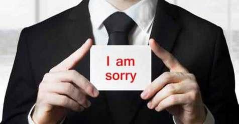 اعتراف کنید که اشتباه کردهاید، به همین سادگی!