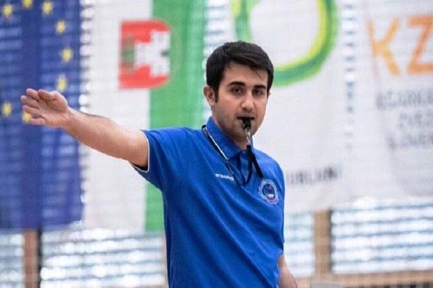 داور مهابادی فینال لیگ برتر والیبال اسلوونی را قضاوت می کند