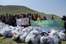 پارک ملی سرخه حصار از وجود زباله پاکسازی شد