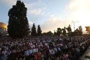 بیش از 120 هزار فلسطینی در مسجدالاقصی نماز عید فطر را اقامه کردند