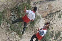 امدادگران هلال احمر 6 تن را در کوههای جم نجات دادند