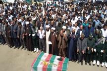پیکر 2 شهید گمنام دوران دفاع مقدس در شهر مرادلو مشگین شهر به خاک سپرده شد