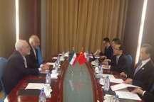 مذاکرات ظریف و همتای چینی در پایتخت قزاقستان برگزار شد