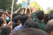 پیکر پاک شهید مدافع حرم در دلیجان تشییع شد